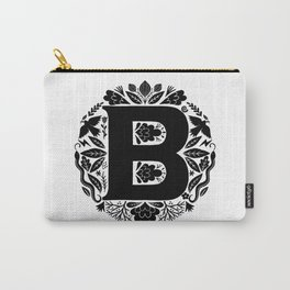 Letter B monogram wildwood Carry-All Pouch