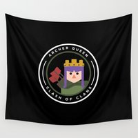 archer Wall Tapestries featuring Archer Queen by chiams