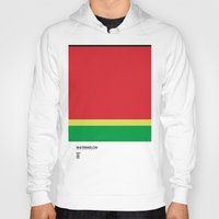 pantone Hoodies featuring Pantone Fruit - Watermelon by Picomodi