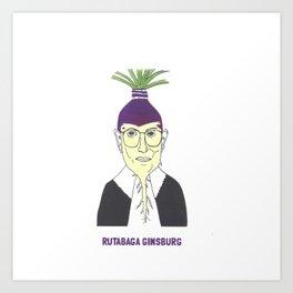 Rutabaga Ginsburg1 Art Print