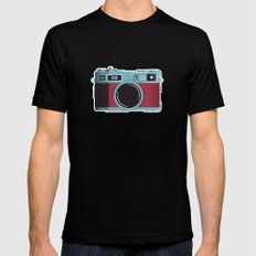 Little Yashica Camera Black MEDIUM Mens Fitted Tee