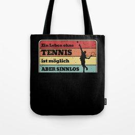 Tennis Life Retro Tennis Player Serve Vintage Tote Bag