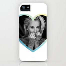 Heart Shaped Gillian Anderson iPhone Case