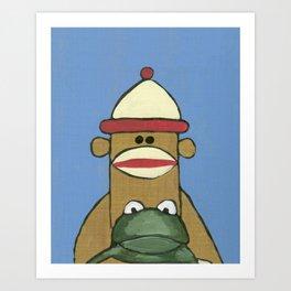 Sock Monkey 81 Art Print