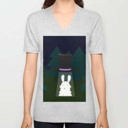 The abduction of Mr. Rabbitson Unisex V-Neck