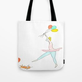 Ballerina, Balloons and my Cat Tote Bag