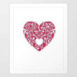 A pink Heart Art Print