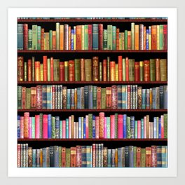 Vintage books ft Jane Austen & more Art Print