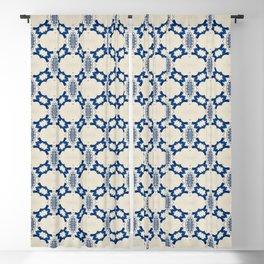 Indigo Summer Seamless Pattern VII Blackout Curtain