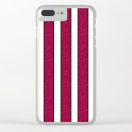 simple red, white stripes. Clear iPhone Case