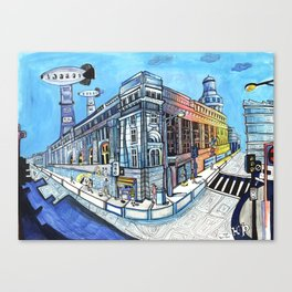 Palace on Blue Street Canvas Print