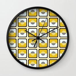 Horizons Geometric Pattern - Summer Sun Gold Wall Clock
