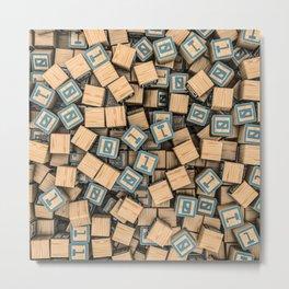 Binary blocks Metal Print