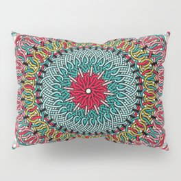 Sunflower Mandala Pillow Sham