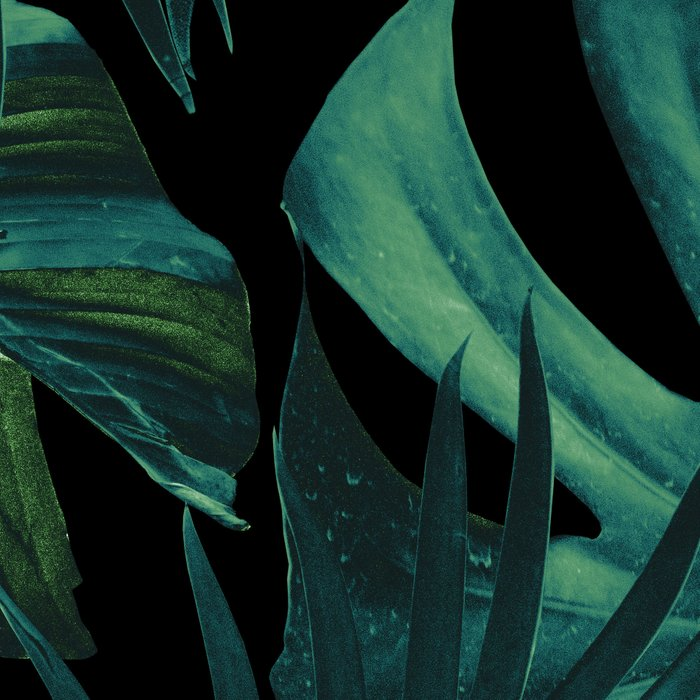 Tropical Jungle Night Leaves Pattern #1 #tropical #decor #art #society6 Leggings