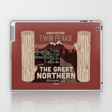 the Great Northern Hotel (Faux Canvas - rust) Laptop & iPad Skin
