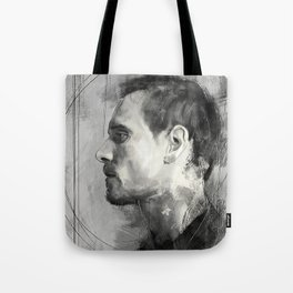 Michael Fassbender side view Tote Bag