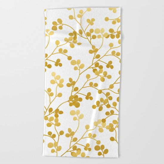 Golden Vines #society6 #decor #buyart Beach Towel