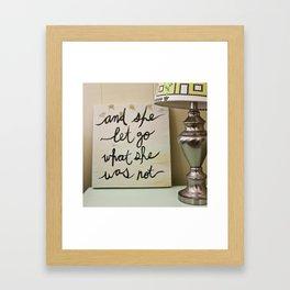 And She Let Go Framed Art Print