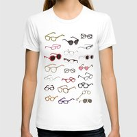glasses T-shirts featuring glasses by Janaína Esmeraldo