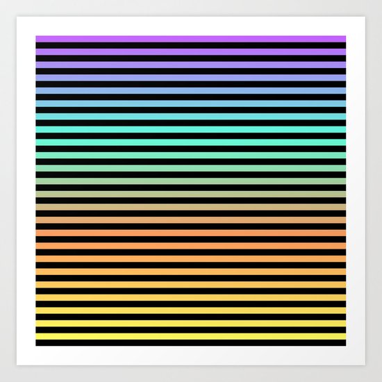 Color Blend Art Print