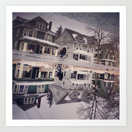 Reflection of Houses Art Print