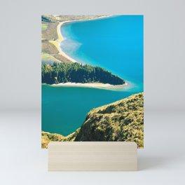 Lake in Azores islands Mini Art Print