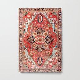 Heriz Azerbaijan Northwest Persian Rug Print Metal Print
