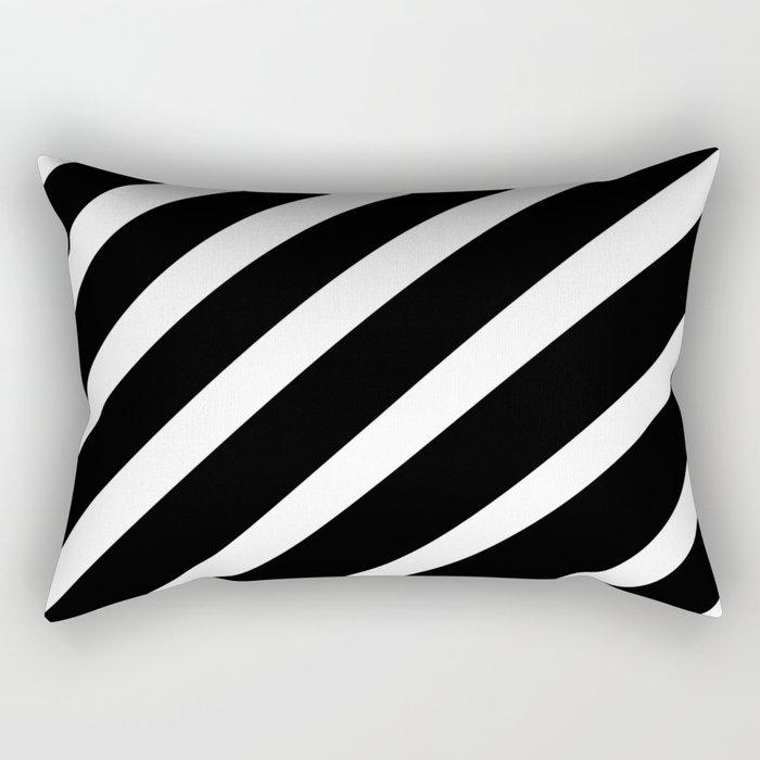 Black'n'White Stripes Rectangular Pillow