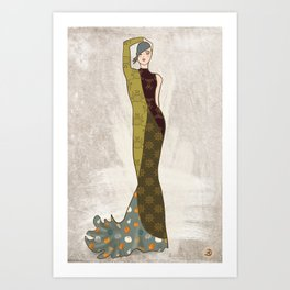 November Fashion Illustration Beauty Art Print