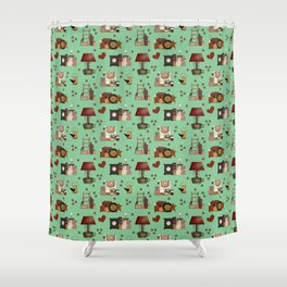 COUNTRY PRIMITIVE Shower Curtain