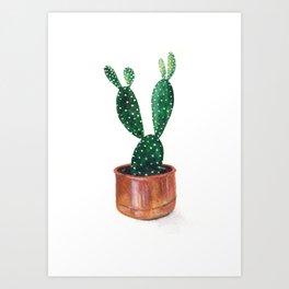 Polka Dot Cactus Art Print