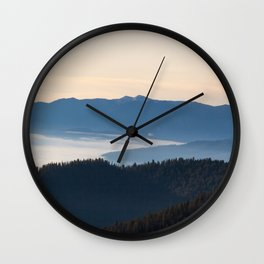 Valley from Above Wall Clock