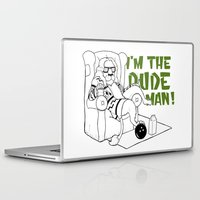 the big lebowski Laptop & iPad Skins featuring Dude by LullaBy D