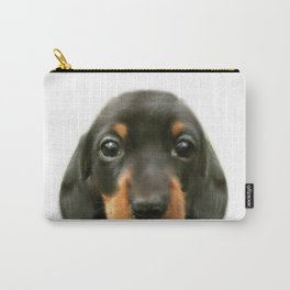 Dachshund baby Dog illustration original painting print Carry-All Pouch