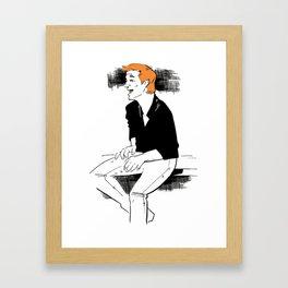 Inktober 2017 Man Laughing Framed Art Print