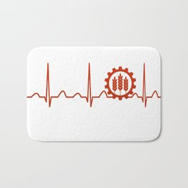 Agricultural Engineer Heartbeat Bath Mat