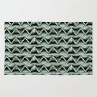 malachite Area & Throw Rugs featuring Malachite Triangles by naturessol