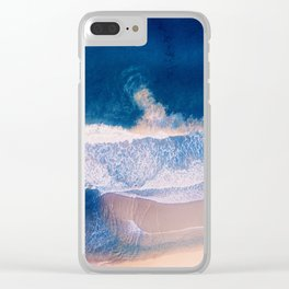 Indigo Swoon Clear iPhone Case