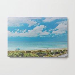 Overlooking Ponto Beach Metal Print
