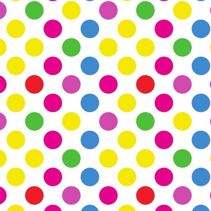 Polka Dots (Spots) Pattern - Pink Green Yellow Leggings