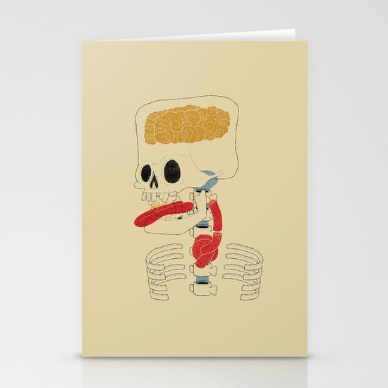 Square Skull...   Stationery Cards