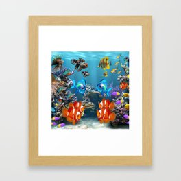 Aquarium Sealife Fish Framed Art Print