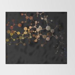 Metallic Molecule Throw Blanket