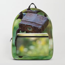 Rusty lock, private property! Backpack