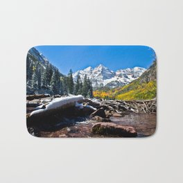 Maroon Bells in Aspen, Colorado Bath Mat