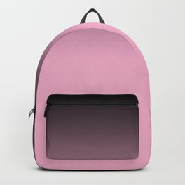 Ombre black pink white gradient soft colors blurred Backpack