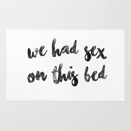 we had sex on this Rug