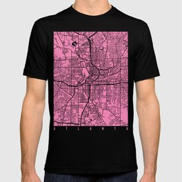 Atlanta map pink T-shirt