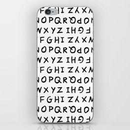 ABC on White iPhone Skin
